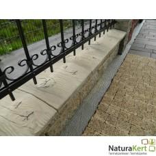 Betonfa kerítés fedlap
