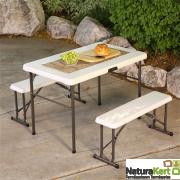 Összecsukható piknik asztal + 2 pad 107 cm