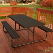 Összecsukható piknik asztal és pad 183 cm