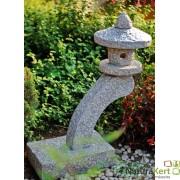 Gránit japán kerti lámpa íves oszloppal