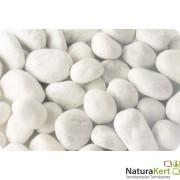Márvány díszkavics, Carrara-fehér,  40-60mm