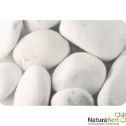 Márvány díszkavics, Carrara-fehér, 100-300mm